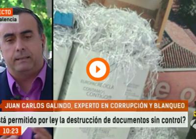 Destruir documentos está tipificado en el código penal