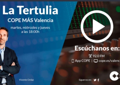 La Tertulia en La Tarde de COPE Mas Valencia (17/11/2020)